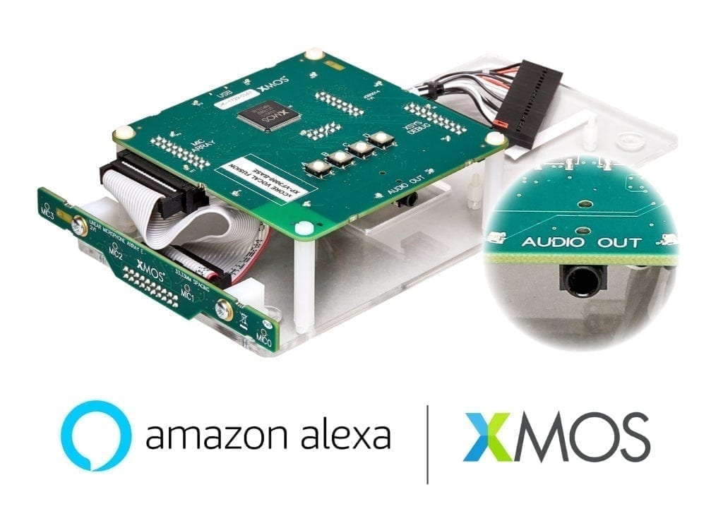 XMOS delivers first Amazon Alexa Voice Service development kit with linear mic array for far-field voice capture