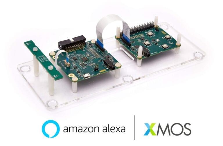 XMOS 2-mic dev kit for Alexa Voice Service qualified by Amazon